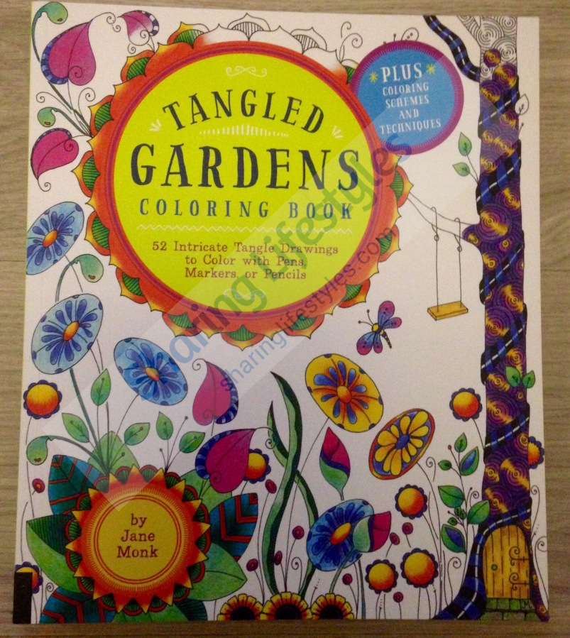 Tangled Gardens Coloring Book by Jane Monk Review