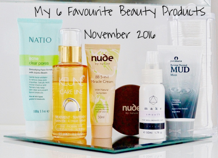 My 6 Favourite Beauty Products – November 2016