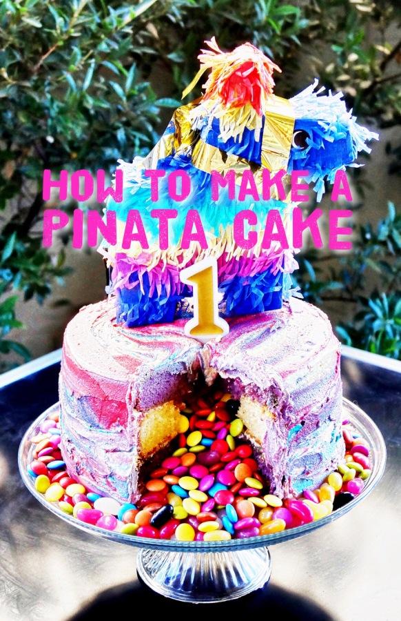 How to Make a PiñataCake