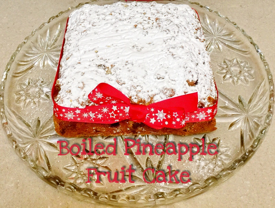 Christmas Recipe – Boiled Pineapple Fruit Cake – Gluten Free