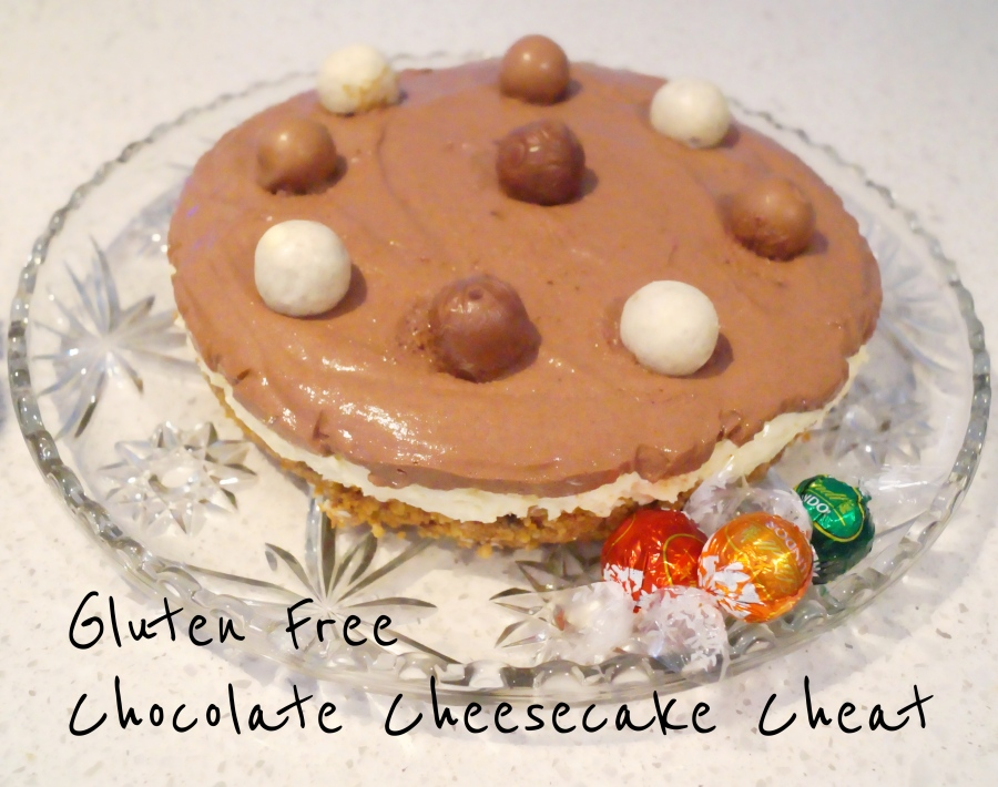 Gluten Free Chocolate Cheesecake Cheat