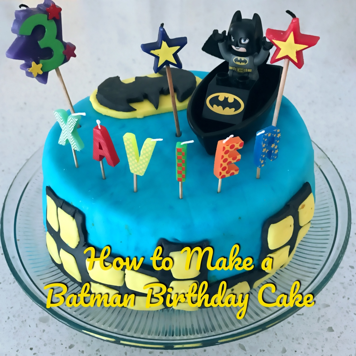 Birthday Cake With Photo Upload Free : How To Make a Batman Birthday Cake   Sharing Lifestyles
