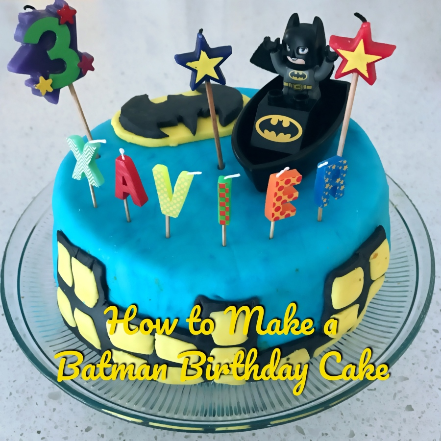 How To Make a Batman Birthday Cake