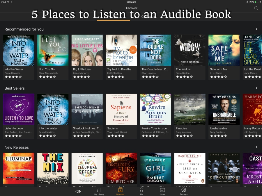 5 Places to Listen to an Audible Book