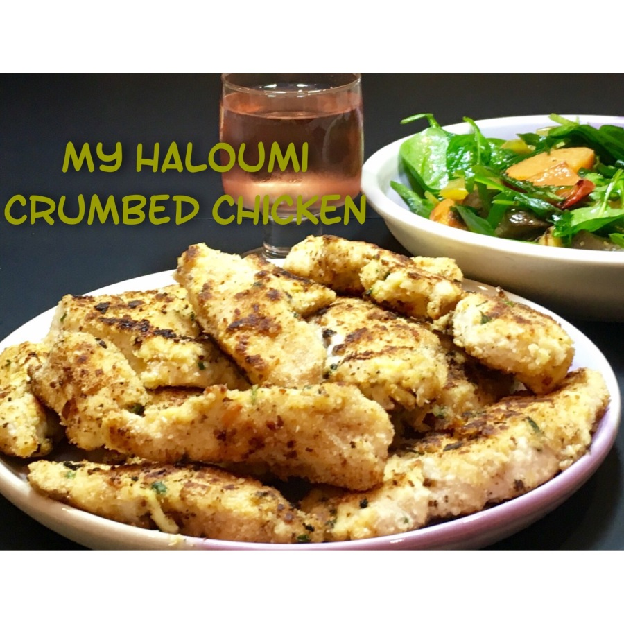 My Haloumi Crumbed Chicken