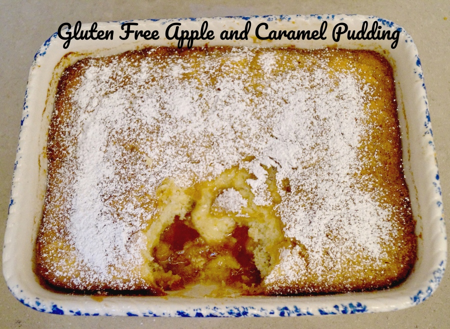 Gluten Free Apple and Caramel Pudding