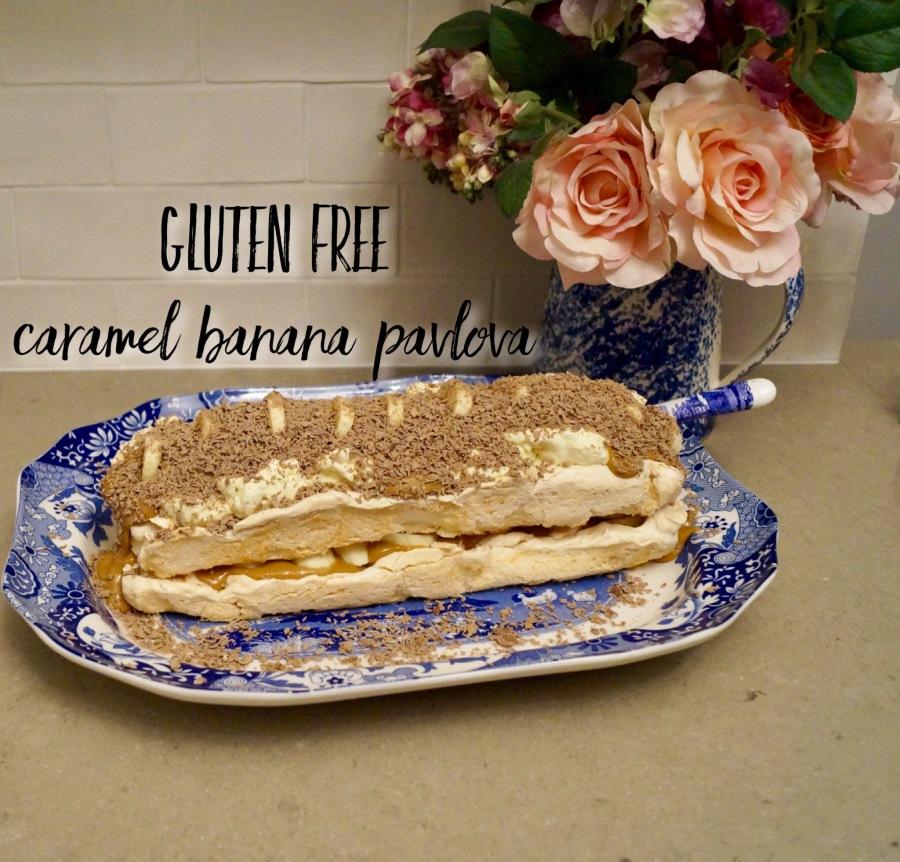 Gluten Free Caramel BananaPavlova