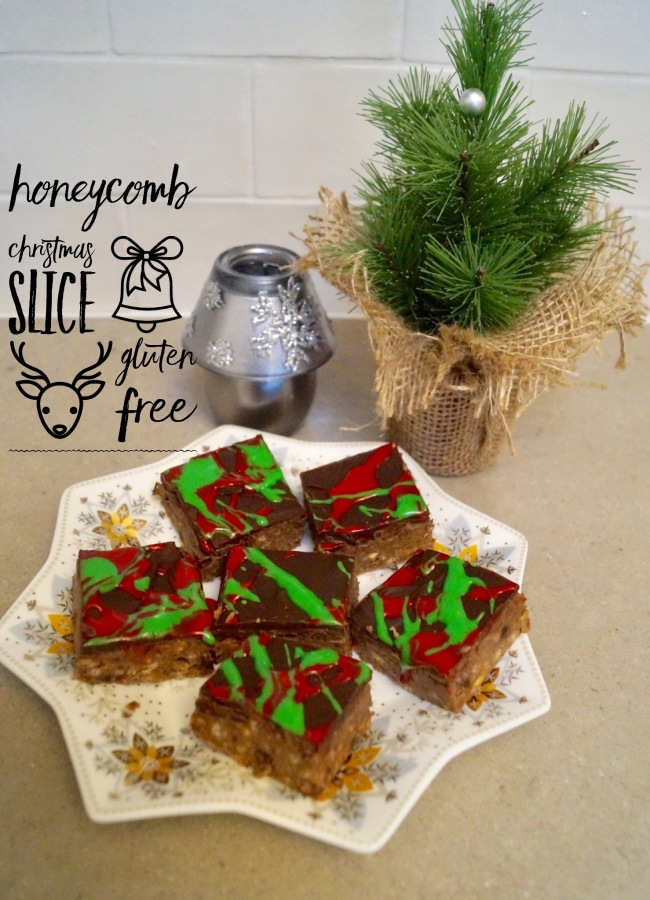 Honeycomb Christmas Slice – Gluten Free